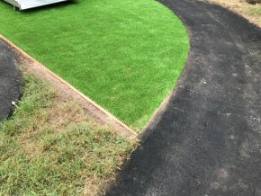 Artificial grass at Rockwell Green School (After)
