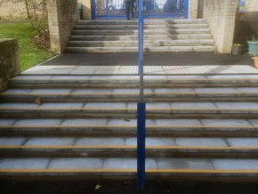 New entrance steps and drainage at St George's, School Taunton